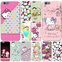 Animation Hello Kitty mobile phone bag Hard Transparent Case for iPhone 7 7 Plus 6 6s Plus 5 5S SE 5c 4 4S