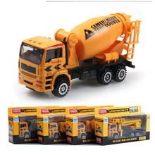 18Cm 4pcs/lot Diecast Model Buses Toy Garbage Truck Autorama Brinquedo Eco-friendly Car Model Toy As Gift For Boy Children(China)