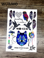 Tattoo trend color animation dream star tattoo tattoo stickers color animal personality LC2878 WU&MO