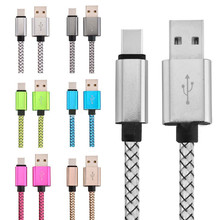 USB Type C Cable 3.1 USB Type-C Braided Chager Data Cable USB C Mobile Phone Cable For Huawei P9 Mate 9 HTC 10 LeEco 2 Zuk z1 z2