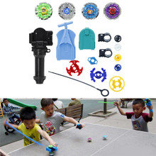 2017 HOT Sale Metal Master Fusion Top Rapidity Fight Rare Beyblade 4D Launcher Grip Set New may12_30