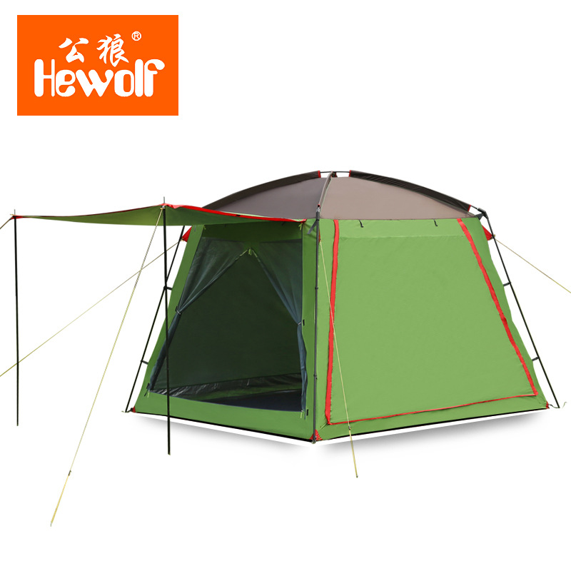 300*300*215cm 5-8 people Large Camping Tents Waterproof Double Layer Outdoor Camping Hiking Fishing Familiy Party Tent<br><br>Aliexpress