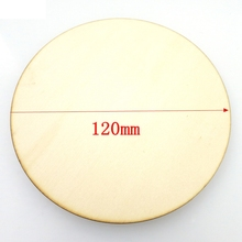 (10pcs/lot) blank cut circle round wood crafts scrapbooking rings hair accessories 120*120*2.5mm 017001100(China)
