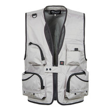 XL-5XL Men's  Photography Work Vest V-Neck Multi-Pocket Reporters Director Sleeveless Jacket Outerwear A364
