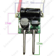 DC-DC 2pins MR16 1~ 3x1W Input 12V~14V Output 2~12V 300mA LED Driver Power Supply For 1W 2W 3W LED Light Bulb