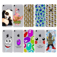 Sponge Bob Square Pants Bape Hard Transparent Case Cover for iPhone 7 7 Plus 6 6S Plus 5 5S SE 5C 4 4S