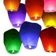 5Pcs Colorful Flying Wishing Lamp Chinese Lantern Sky Lanterns Hot Air Kongming Lantern For Birthday Wedding Party Decoration