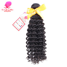 QUEEN BEAUTY HAIR Malaysian Curly Hair Bundles Remy Hair Natural Color Tight Curly Human Hair Weave Free Shipping