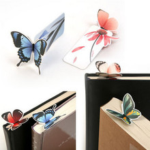1 PCS Stationery Beautiful 3D Colorful Butterfly Paper Bookmark(China)