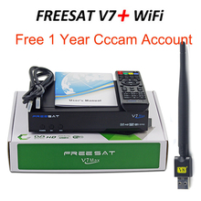 Freesat V7 Max DVB-S2 Satellite TV Receiver with 1 Year Europe CCCAM One Cline and 1pc USB WIF Receiver Set Top Box DVB-S2(China)