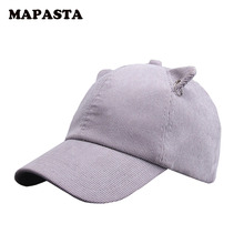 MAPASTA new autumn and winter cat ears cap baseball cap ultra-Meng fashion caps women solid corduroy cap
