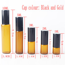 1ml 2ml 3ml 5ml 10m Glass Roll on Bottle with Stainless Steel Roller Small Essential Oil Roller-on Sample Bottle (50pieces/lot)(China)