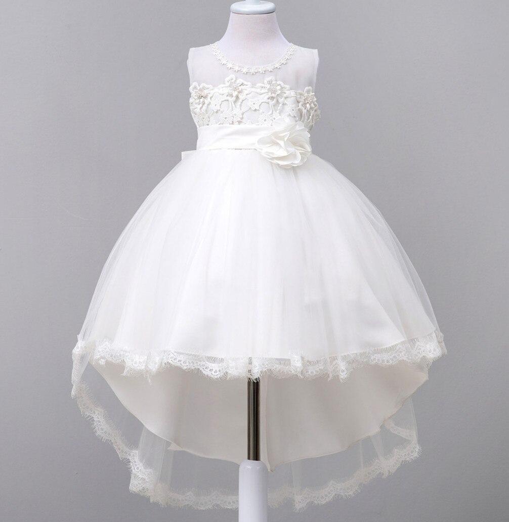Baby Girl Dress Children Wedding Evening Dresses Sleeveless White