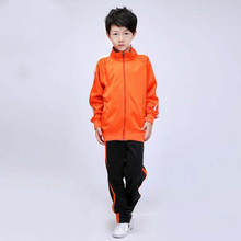 2017 kids soccer jerseys tracksuit boys long sleeve football shirts jerseys 2017 Children training suit outdoor competition kit(China)