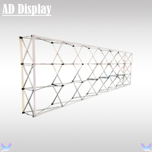 20ft Straight Economical Model Exhibition Advertising Pop Up Display Stand,Trade Show Booth Fabric Pop Up Wall (Only Frame)