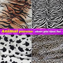 Animal Patterns  Tiger Print  Zebra Print  Cow Print  Leopard Print  Short Pile Faux Fur Fabric  Sold By The Yard  Free Shipping