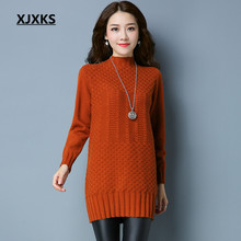 XJXKS Casual Long Knitted Pull Femme Christmas Sweater Ladies Clothing Autumn And Winter Beautiful Women Sweaters(China)