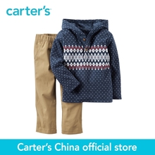 Carter's 1pcs baby children kids 2-Piece Hooded Fleece Top & Khaki Pant Set 229G268,sold by Carter's China official store