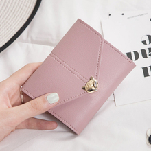Pocketbook ladies 2017 fashion cartoon Cute Mini Wallet short magnet PU leather purse women purse(China)