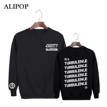 ALIPOP Kpop Korean Fashion GOT7 2017 USA Album Concert TURBU LENCE Cotton Hoodies Clothes Pullovers Sweatshirts PT354(China)