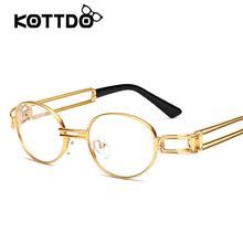 Sunglasses For Men's Brand Designer Steampunk Vintage Sun glasses Women Oval Shades Eyewear Accessories Goggle oculos feminino