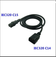 High quality  IEC 320 C14  MALE to C15 FEMALE  UPS/PDU    Power  extension Cord  Adapter Cable