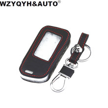 WZYQYH&AUTO New A93 Leather Case For Starline A93 A63 Car alarm Remote Controller LCD Keychain Cover(China)