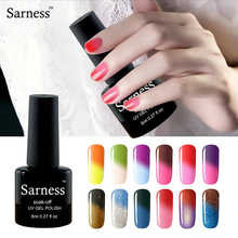 Sarness Top Base Coat Lucky 29 Colors Temperature Change Nail Gel Polish Soak Off UV LED Thermal Mood Changing Gel Varnish
