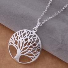 24mm plant leave Pendants for live hot round Vintage Fashion Jewellery cheap luxury Jewelry Chains tree of life Necklace Pendant