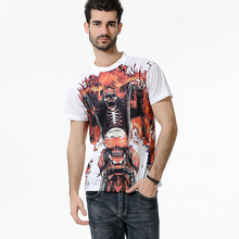 Hip Hop T shirt 2017 Men O-Neck Tshirt Skulls Printed Casual Clothes Male Fitness essential Novelty Tops Tees Plus Size 3XL