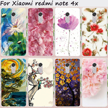 TAOYUNXI Cases Plastic TPU For Xiaomi Redmi Note 4X 4 X Note4X 3G/32G 5.5 inch Case DIY Painting Flowers Cell Phone Bags Skins(China)