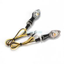 Black Custom Motorcycle Turn Signals Indicator COB Amber Light Cruiser Chopper