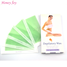 5 PCS Depilatory Wax Double Side Hair Removal Cold Wax Strips Paper For Leg Body Facial Hair Strip Paper Waxing Smooth Legs