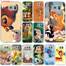 Sika deer Bambi Hard Transparent for Samsung Galaxy S6 S7 S8 Edge Plus S5 S4 S3 & Mini Case Cover