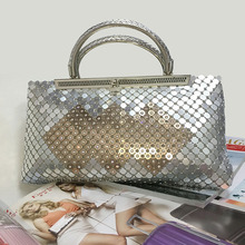2017 new European and American fashion handbags square women's evening bags diamond bag manufacturers wholesale(China)