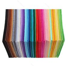 New 40PCS Rainbow Colorful Felt Sheets DIY Craft Polyester Wool Blend Fabric Party Supplies