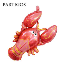 40pcs/lot Jumbo Helium Inflatable Animal Lobster Foil Balloon for Party Decoration Ballons big sea animal globos classic toys