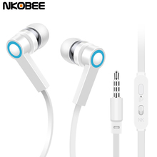 In-ear Earphone Earbuds with Mic Ear phones head set Ear phone Bass micro earpiece ear buds for iphone earphones earbud