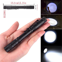 1PCS CREE XPE flashlight LED mini lighting 2 * AAA battery pencil flashlight lighting(China)