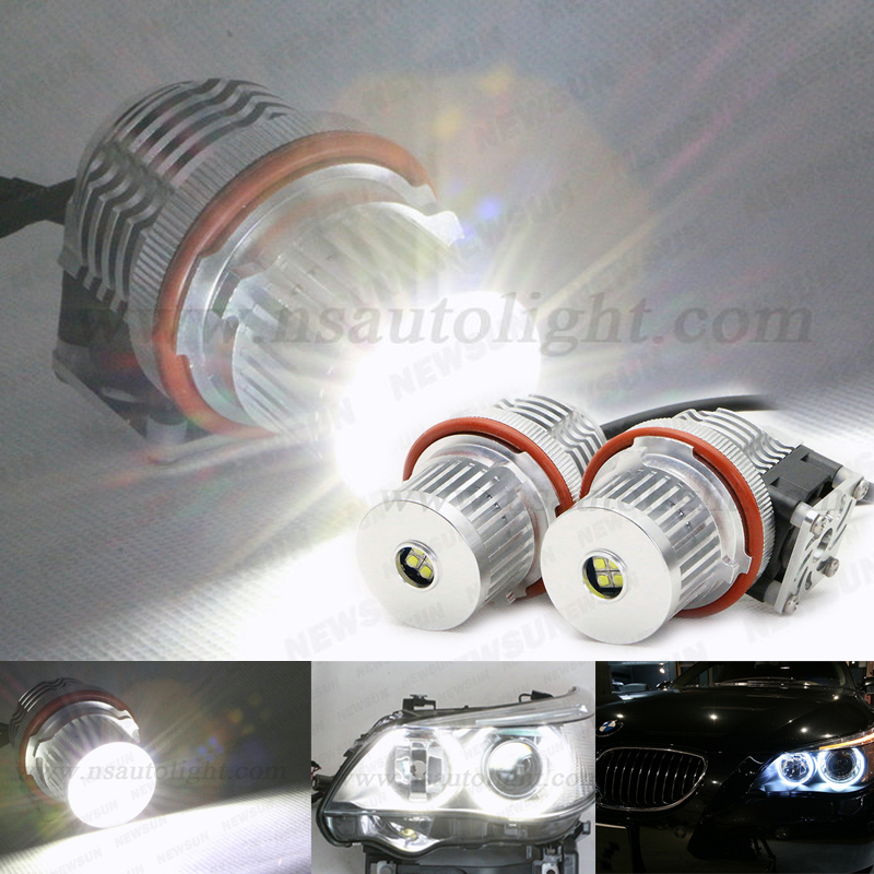 E39 40W CREE chip LED ANGEL EYE HALO LIGHT BULBs E39 E60 E61 E87 E66 WHITE LED Angel eye in auto lighting system<br><br>Aliexpress