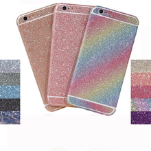 50Pcs for iPhone 7Plus 7G Luxury Front Back Side Protector Film Sticker Diamond Glittering Sparkle with Crystal Rhinestone