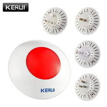 KERUI Wireless Flashing Indoor Siren Alarm Flash Horn Red Light Strobe Siren 433 MHz suit for Security Alarm Systems home Siren