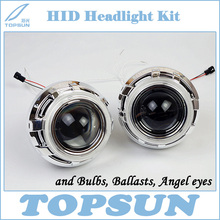 3 inch WST Bifocal Projector Lens with TC H1 35W HID Bulb, Ballast, Shroud and CCFL angel eyes, High Quality Car Light Kit(China)