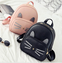 2017  Fashion Children Hello Kitty Backpack Women Bag Cat Carton School Bags For Teenagers Backpacks Girls Boys