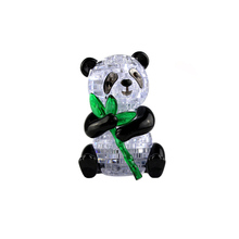 Hot Sale Cute Panda Model Puzzle Crystal Puzzle Popular Kids Toys DIY Building Toy Gift Gadget Crystal 3D Puzzle