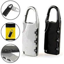 Alloy Code Number Lock Padlock Anti-Theft Hook Lock for Luggage Zipper Bag Backpack Handbag Suitcase,Portable and simply to use