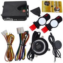 RFID car alarm system with 2pcs transponder wrist band and auto engine start stop button