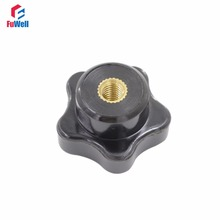 5pcs M6 x 30mm Female Thread Star Knob Free Shipping 6mm Thread 30mm Head Diameter Nut Clamping Knob Handles