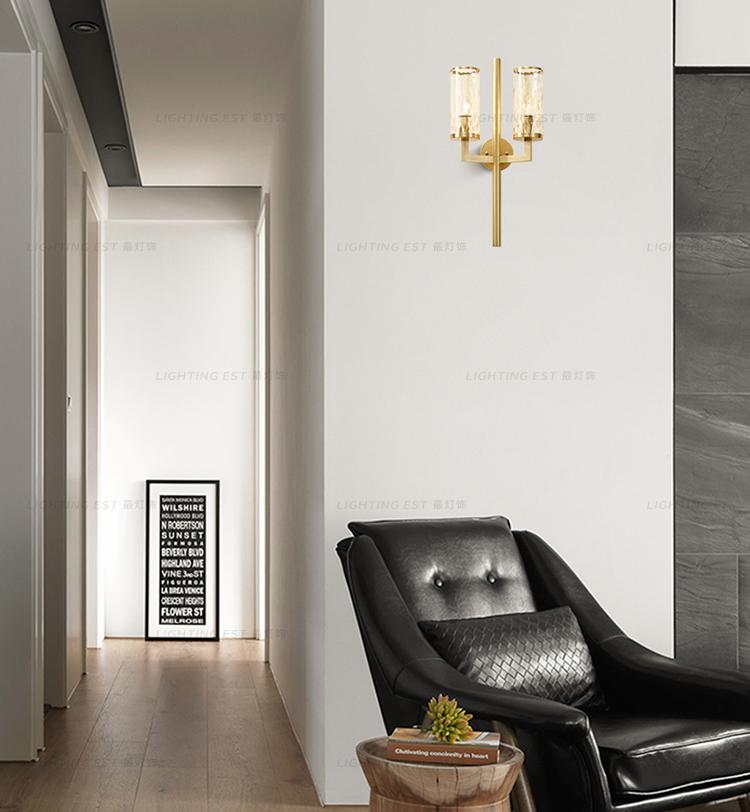 e (4)post modern wall light