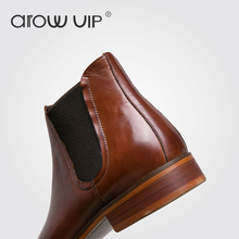 arow VIP Brand Genuine Leather Men Boots, New Arrive Leather Men Chelsea Boots, High Quality Men Ankle Boots(China)